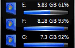 Мульти гаджет для рабочего стола Windows 7 черный
